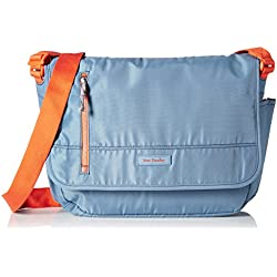 Vera Bradley Women's Laptop Messenger, Mineral Blue