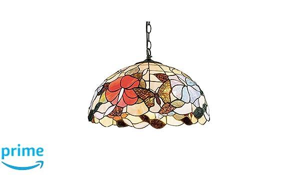 Lampadari E Plafoniere Tiffany : Fan europe lampadario a sospensione ninfa mosaico tiffany sospeso