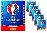Unbekannt Panini - UEFA 2016 Frankreich Stickerset Sammelalbum + 5 Booster Packungen Sammelsticker 25 Sticker - Deutsche Ausgabe
