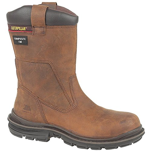 Caterpillar Mens Olton Rigger Safety Work Boots Brown brown