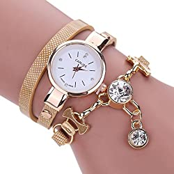 Watch, Tonwalk Women's Ladies PU Leather Rhinestone Analog Quartz Dress Wrist Watches