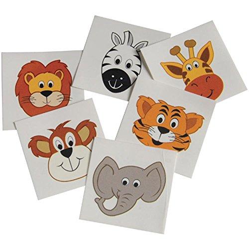 Wild Animal Tattoos-1 1/2 -144 Pack