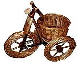 Korb Fahrrad Pflanzkorb Blumenständer Weide Gartenkorb Deko Korbware verschiedene Varianten zur Auswahl (ORT018 - mittelgroß entrindet)