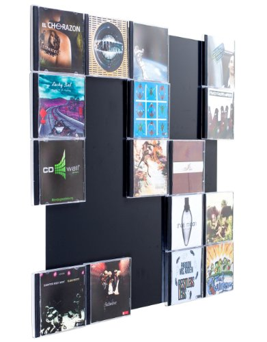 Farbige Design CD-Wand 5x5 Farbe: schwarzgrau für 25 CDs