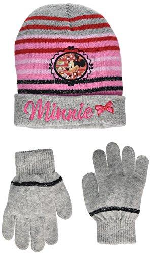 Hat Disney (Disney Mädchen Mütze & Handschuh-Set Minnie Mouse Cooker Grau (Hellgrau), 2.5 (Herstellergröße:54))