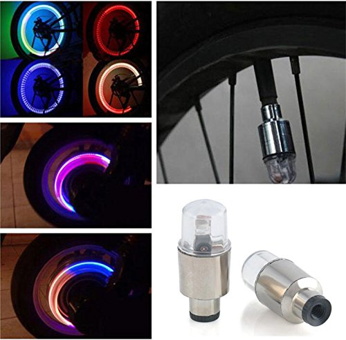 Sedeta-2ST-Bike-LED-Mehrfarben-Motorrad-Auto-Reifen-Ventilkappe-Speiche-Neon-Lampe