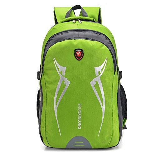 Grande capacità ricreazione Portable alpinismo zaino all'aperto arrampicata sportiva in viaggio escursioni equitazione Pack multifunzione studenti business doppio-spalla borsa 4Colors H52xW35xT25CM ,  light green