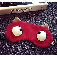 Hangaga Augenmaske, Cartoon-Augenmaske, Baumwolle, Verdunkelung, Schlaf- und Augenschutz rot preisvergleich bei billige-tabletten.eu