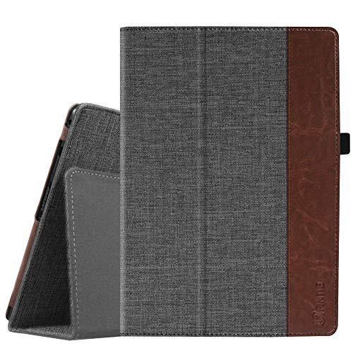 Fintie Lenovo Tab4 10 / Tab4 10 Plus Hülle - Folio Kunstleder Schutzhülle Tasche Etui Case mit Auto Schlaf/Wach Funktion für Lenovo Tab 4 10 / Tab 4 10 Plus (10 Zoll) Tablet-PC, Denim dunkelgrau