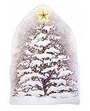 dpr. Fensterbild Tannenbaum Weihnachtsbaum mit Stern Selbstklebend Fensterdekoration Winterdekoration Weihnachten