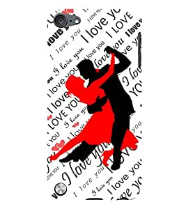 Fuson Love Couple Back Case Cover for APPLE IPOD TOUCH 5 5th Gen - D3663