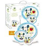 Mickey - Coffret cadeau repas bébé 5 pièces