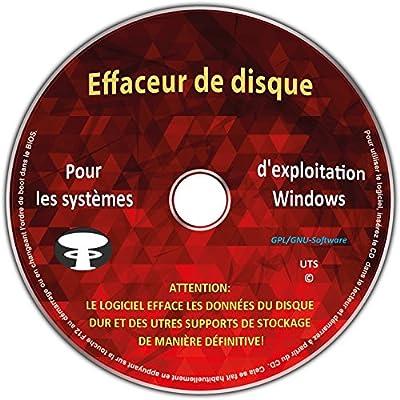 """Effaceur & formateur de disque dur pour les systèmes d'exploitation Windows 10 / 8 / 7 / Vista / XP (32 & 64 Bit), destructeur de données, suppression sécurisée de données """" Tous supports de stockage"""" de UTS - Logiciels"""