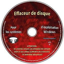 """Effaceur & formateur de disque dur pour les systèmes d'exploitation Windows 10 / 8 / 7 / Vista / XP (32 & 64 Bit), destructeur de données, suppression sécurisée de données """" Tous supports de stockage"""""""