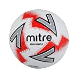 mitre Super Dimple Football Mixte, Blanc/Rouge, 4