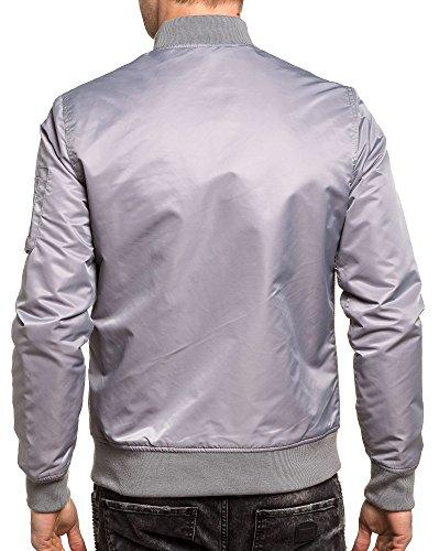 Gov Denim - Fliegerjacke solide graue Mann Grau