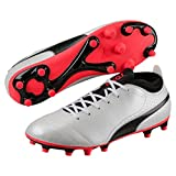 PUMA One 17.4, Chaussures de Football Homme, Blanc (White-Black-Fiery Coral), 43 EU...