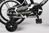 12 Zoll Fahrrad Qualitäts Kinderfahrrad matt schwarz bike Black Cruiser - 4