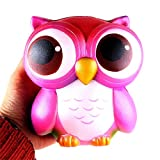 Enlarge toy image: JACKY-Store Kids Children Lovely Pink Owl Cream Scented Squishy Slow Rising Squeeze Christmas Toys 15cm