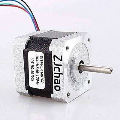 Yosoo 57oz-in 1Nm Nema 17 Schrittmotor 1.3A 40 mm für CNC-Router oder Mühle