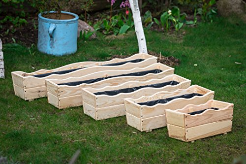 Larisa Pflanzkübel aus Holz, Pflanzkasten, Blumenkasten, Blumenkübel Verschiedene Größe (80x21x20)