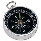 Brújula (con anilla para llavero, diámetro: aprox. 4,4 cm, aluminio)
