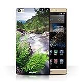 Phone Case for Huawei P8 Max Waterfalls Stream Design