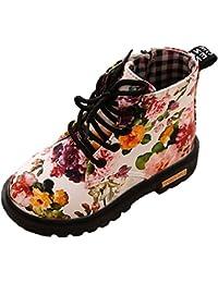Scothen Niñas Martin Botas Impermeable Botas Cortas Invierno Niños Zapatos Lace Up Botines Botines Baby Booties Zapatos de bebé Botas Niñas Invierno Niños Martin Botas de Nieve