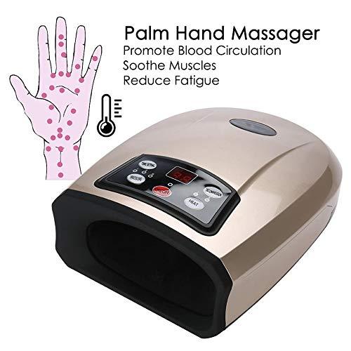 OMZBM Elektrische Akupressur Palm Hand Massagegerät-Schutz Beauty Handpflege Entspannen Sie Sich Werkzeuge Finger Spa Taubheits-Schmerzlinderungs-Büro-Haus,Gold - Akupressur Hand-massagegerät