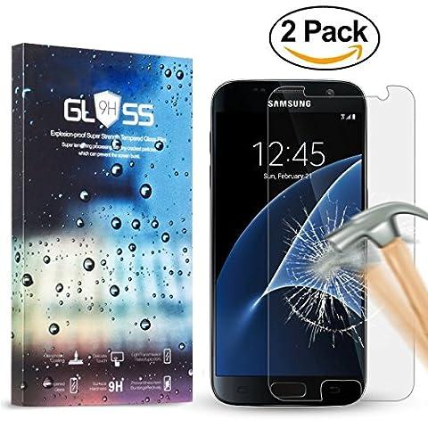 [2 Pièces] Galaxy S7 Protection d'écran Trempé, 0.3MM Fin HD