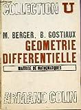 Geometrie Differentielle - Maitrise de Mathematiques