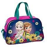 Disney Frozen - Die Eiskönigin Anna und Elsa (DFV), Sporttasche Reisetasche für Mädchen, pink/lila, 40 x 25 x 13 cm