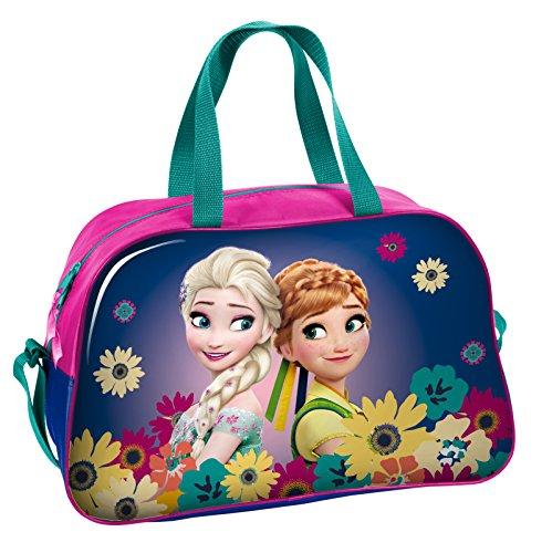 Disney Frozen - Die Eiskönigin Anna und Elsa (DFV), Sporttasche Reisetasche für Mädchen, pink/lila, 40 x 25 x 13 ()
