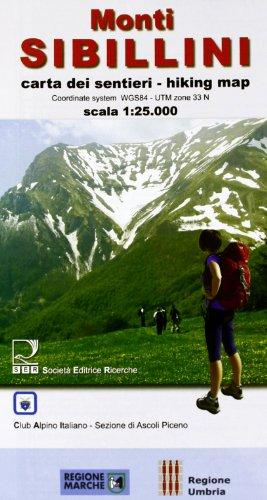 MONTI SIBILLINI - Parco Nazionale dei Monti Sibillini CARTA DEI SENTIERI - Scala 1:25.000 di Alberico Alesi