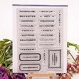 ECMQS Words DIY Transparente Briefmarke, Silikon Stempel Set, Clear Stamps, Schneiden Schablonen, Bastelei Scrapbooking-Werkzeug