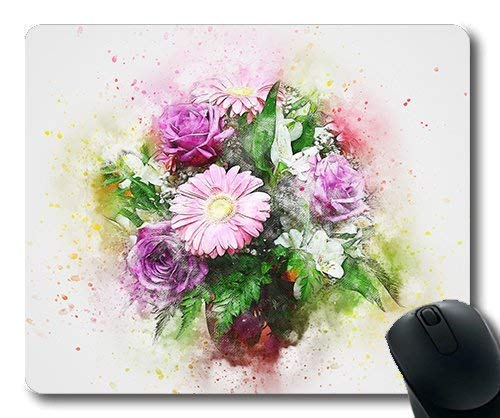 Drempad Gaming Mauspads Custom, (Precision Lock Edge Mouse pad) Flowers Roses Bouquet Art Nature Abstract25 Gaming Mouse pad Mouse mat for mac or Computer