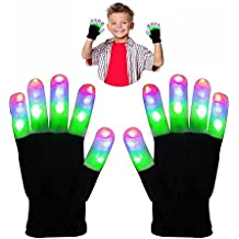 WIKI Juguetes para niños, iluminación Guantes LED para Halloween Regalos para niñas adolescentes Regalos para adolescentes Niños Iluminación para fiestas ...
