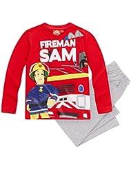 Feuerwehrmann Sam Jungen Pyjama Schlafanzug 2016 Kollektion - rot