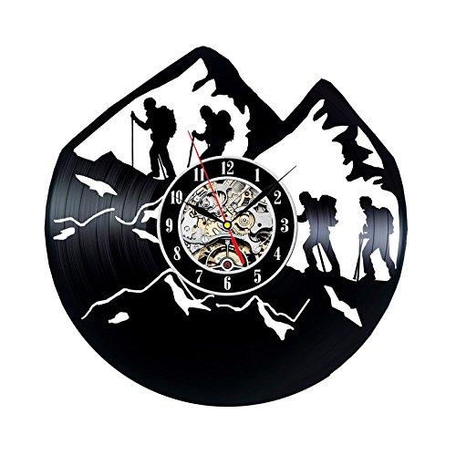 Vintage reloj de pared de vinilo regalo para escaladores