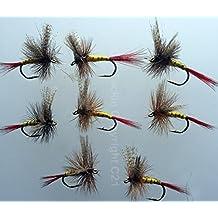 Pesca con Mosca Professor Simon 8unidades Dry Moscas de la trucha vuela tamaño 10UK puede volar Pack # 104