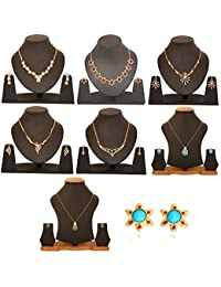Touchstone Combo Of Trendy & Classic Necklace Set Pendant Set & Earring For Women