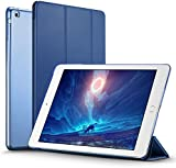 iPad Air Case (NOT for iPad Air 2), ESR iPad Air Smart Case Cover Ultra Slim Synthetic Leather and Translucent Frosted Back Magnetic Cover with Auto Wake & Sleep Function for Apple iPad Air / iPad 5 Case (Navy Blue)