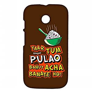 RANGSTER Khayali Pulao-Fun Matte Finish Mobile Case For Motorola Moto E (XT1022)-Brown