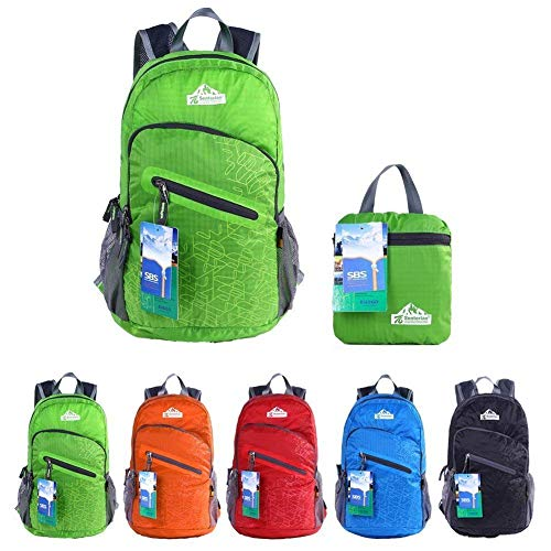 EGOGO multifunktionale haltbar stopfbare handlich leichte Reise Rucksack Daypack Schultasche Wandern Rucksack S2212 (Grün) -