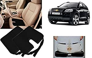 Auto Pearl - Premium Quality Car Seat Rest Cushion Black Set of 2Pcs For - Chevrolet Captiva
