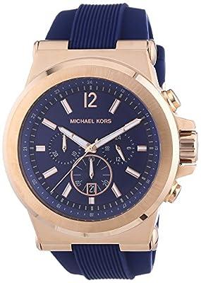 Michael Kors MK8295 - Reloj para hombres, correa de silicona color azul