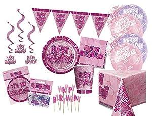 Unique Party Party Kit Color rosa 63750