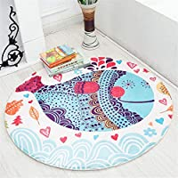 Dewdropy Baby Play Mat, Soft Canvas Cotton Infant World Map Playmat Blanket Crawling Mat Round Lace Activity Pad Carpet Floor Rug for Home Kids Decoration Bedroom Gift