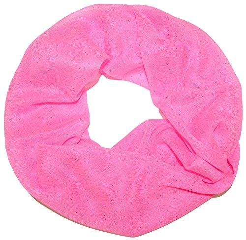 thb Richter Damen Glitzerschal Schlauchschal Loopschal Suchergebnisse Einfarbig Uni Sommerschal mit Glitzer Strass Loop Tuch Tücher Schals (Rosa-4#)