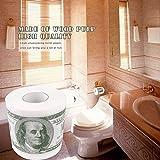 Lanafall 5 Rolls novità Divertente One Hundred Dollar Bill Stampata Molle casa Rotolo di Carta igienica Dollari Carta igienica Rotolo di Carta Moneta